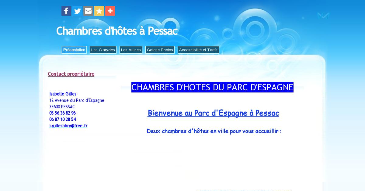 Chambre d 39 h tes pessac pr sentation for Chambre d hote pessac leognan